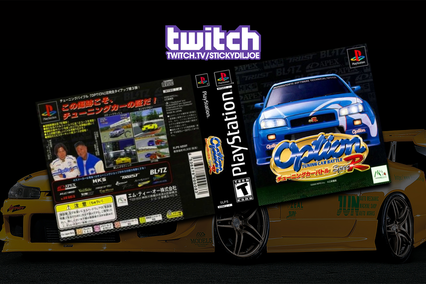 Option Tuning Car Battle Spec-R for PS1 on Twitch!
