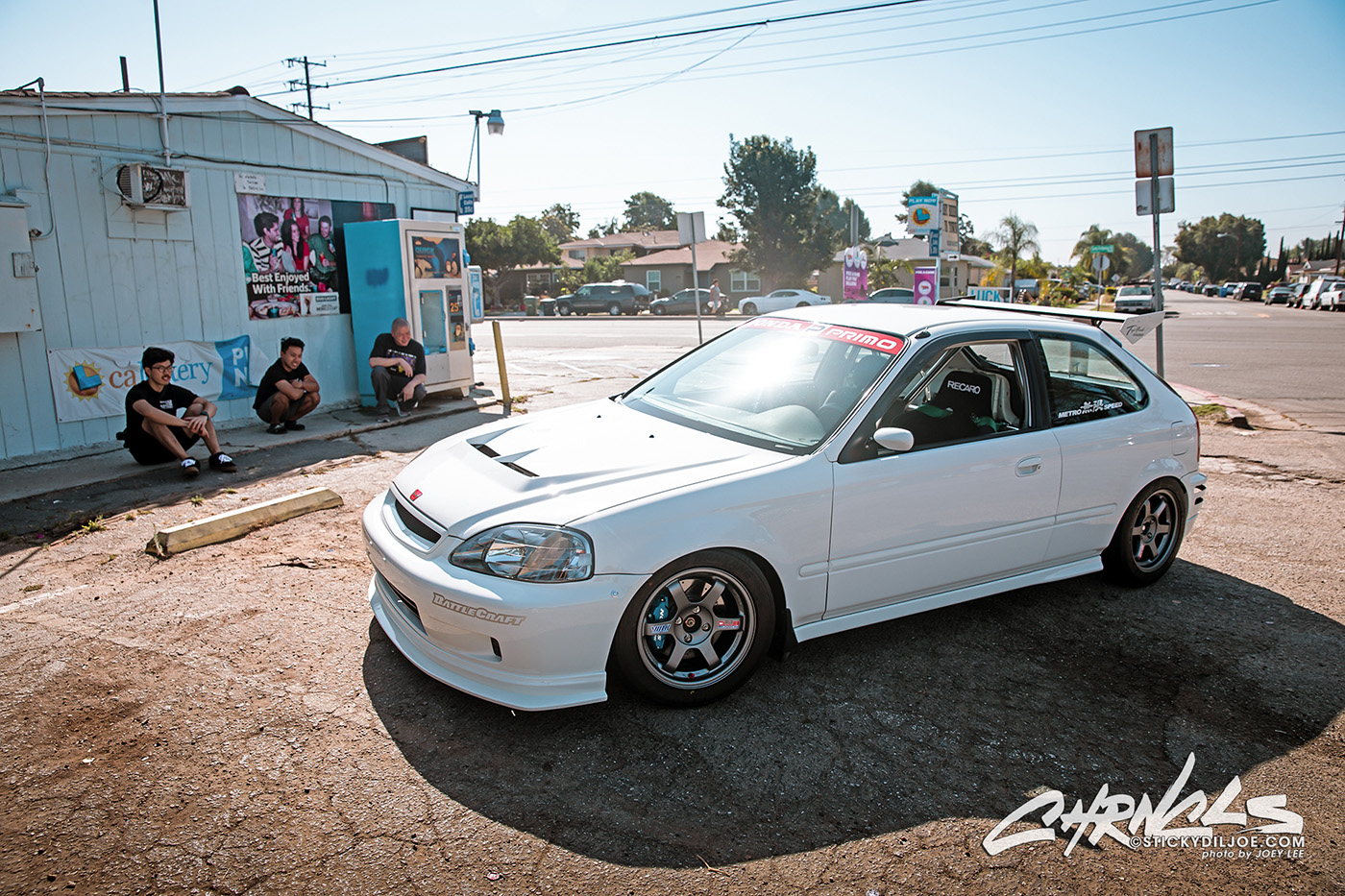 "Dave's Civic On A Fresh Set of ""Club Edition"" Volk TE37SL Wheels…"